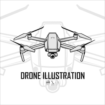 Ilustração de drone