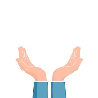 Ilustração de duas mãos em concha