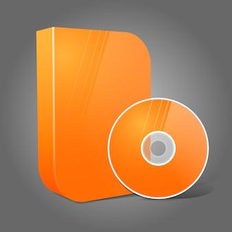 Ilustração de dvd isolada em laranja realista e brilhante