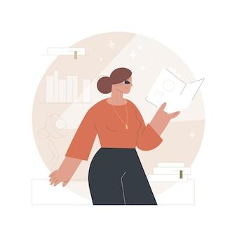 Ilustração de e-book