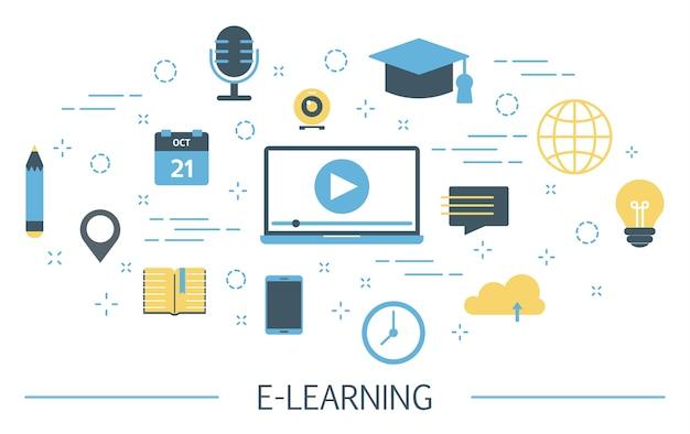 Ilustração de e-learning