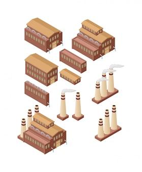 Ilustração de edifícios de fábrica