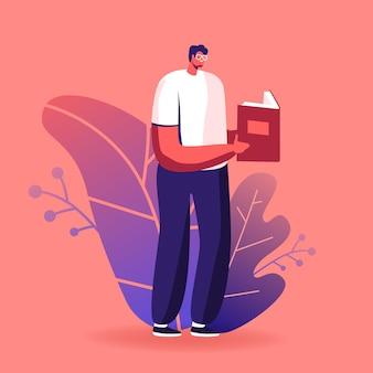 Ilustração de educação ou hobby de leitura