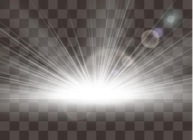 Ilustração de efeito de brilho de luz
