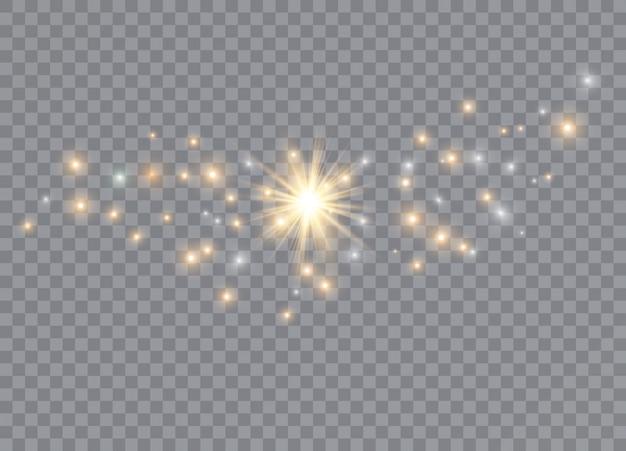 Ilustração de efeito de luz de brilho.
