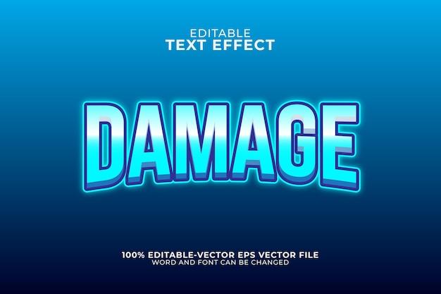 Ilustração de efeito de texto de dano