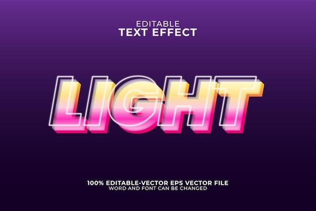 Ilustração de efeito de texto de iluminação