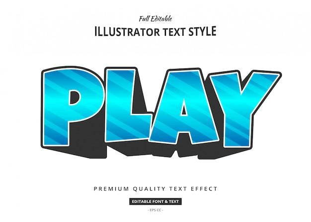 Ilustração de efeito de texto moderno