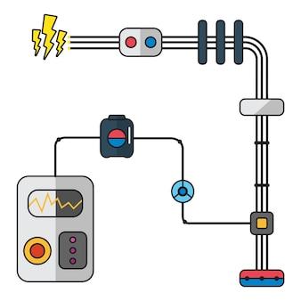 Ilustração, de, electricidade
