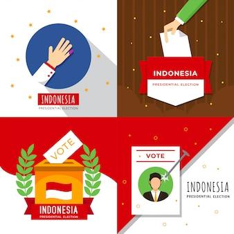 Ilustração de eleição do presidente da indonésia