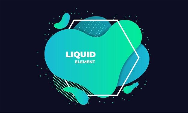 Ilustração de elemento abstrato líquido verde