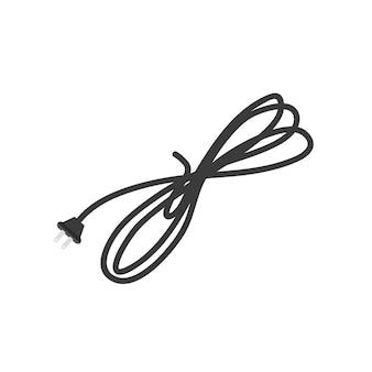 Ilustração, de, elétrico, fio