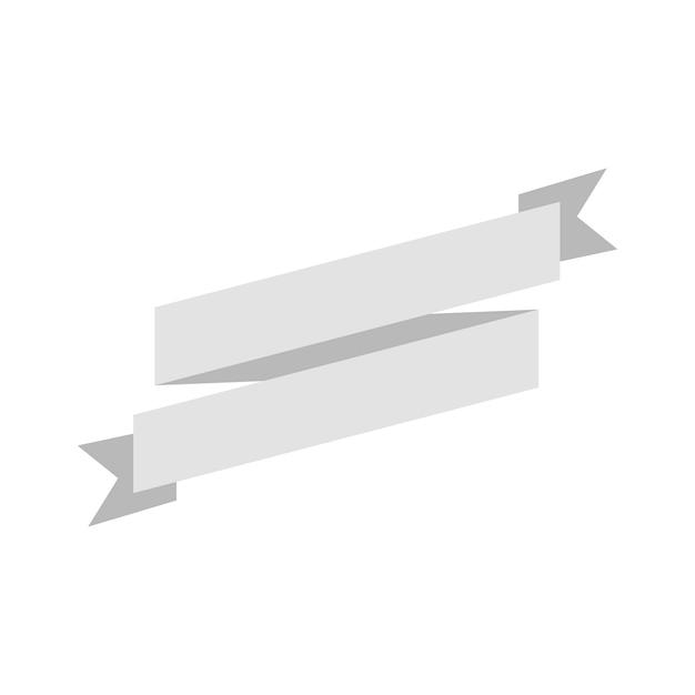 Ilustração, de, em branco, fita, bandeira