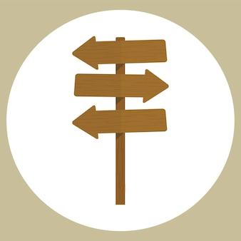 Ilustração, de, em branco, sinal, vetorial