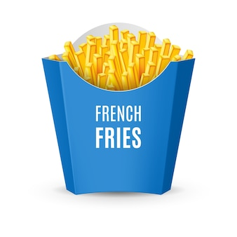 Ilustração de embalagens para batatas fritas