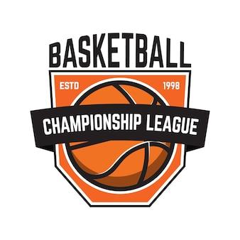 Ilustração de emblemas de esporte de basquete