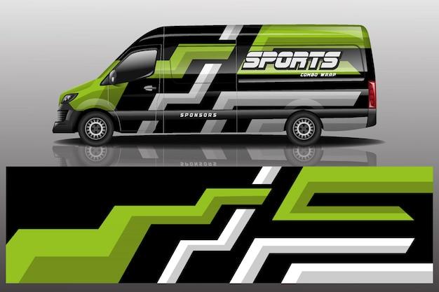 Ilustração de embrulho de carro van decalque