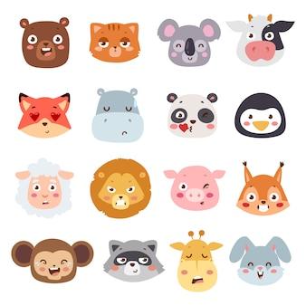Ilustração de emoções animais.