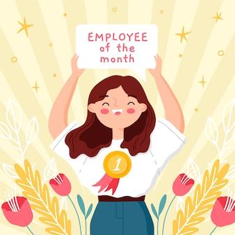 Ilustração de empregado do mês