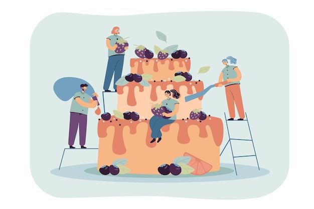 Ilustração de emprego de sobremesa culinária