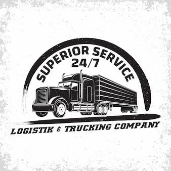 Ilustração de empresa de caminhões