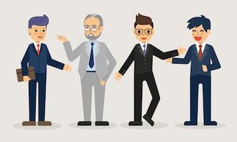 Ilustração de empresário em pé.