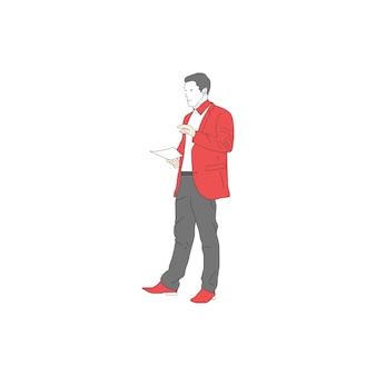Ilustração de empresários