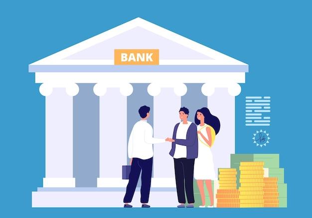 Ilustração de empréstimo bancário
