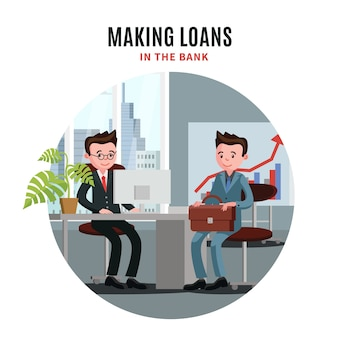 Ilustração de empréstimo empresarial