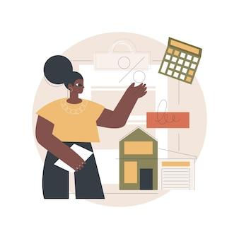 Ilustração de empréstimo hipotecário