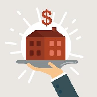 Ilustração de empréstimo hipotecário.