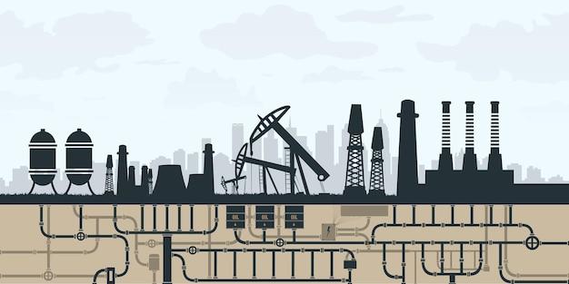Ilustração de energia renovável com elementos da água do sol, vento e terra