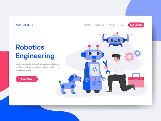 Ilustração de engenharia de robótica