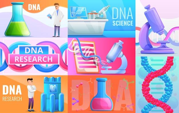 Ilustração de engenharia genética definida no estilo dos desenhos animados