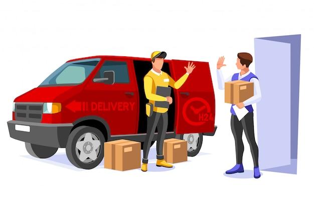 Ilustração de entrega comercial