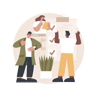 Ilustração de entrega de projeto