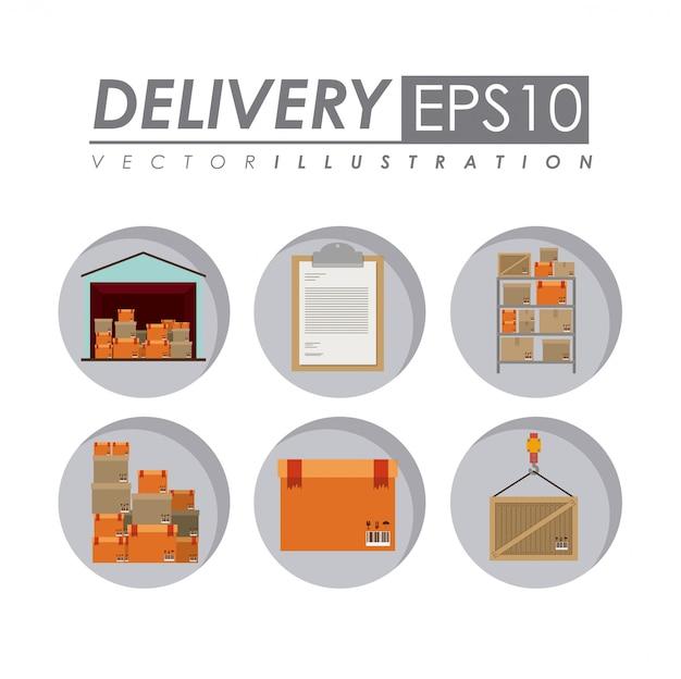 Ilustração de entrega.
