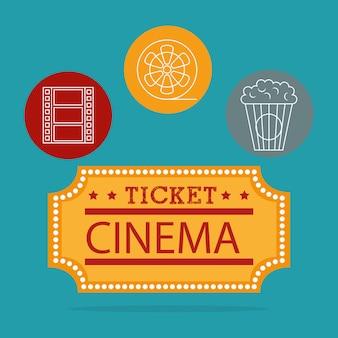 Ilustração de entretenimento de cinema