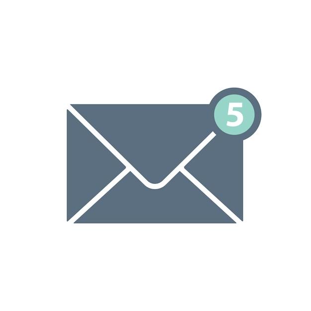 Ilustração, de, envelope
