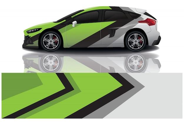 Ilustração de envoltório de adesivo de carro suv