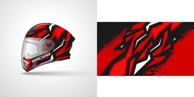 Ilustração de envoltório de capacete de corrida