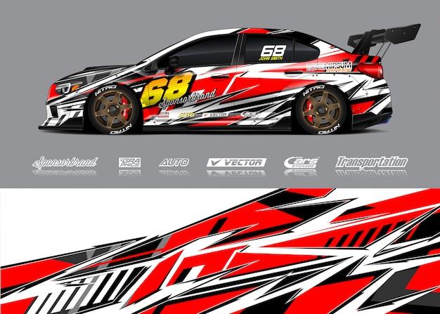 Ilustração de envoltório de carro de corrida