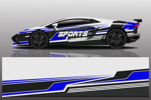 Ilustração de envoltório de decalque de carro esporte