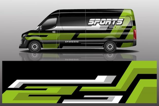 Ilustração de envoltório de decalque de carro van