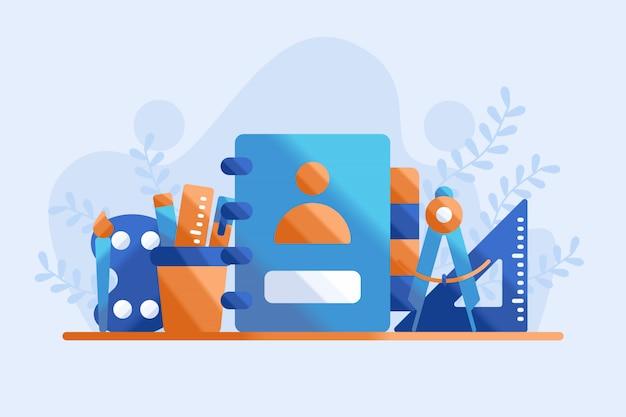 Ilustração de equipamento de educação