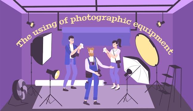 Ilustração de equipamento fotográfico