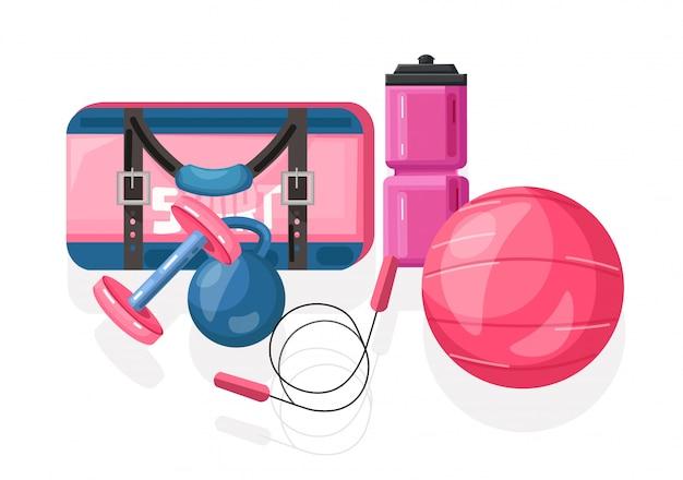 Ilustração de equipamentos de esporte