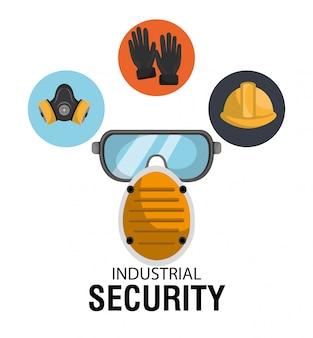 Ilustração de equipamentos de segurança