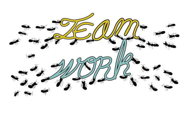 Ilustração, de, equipe, trabalho, conceito