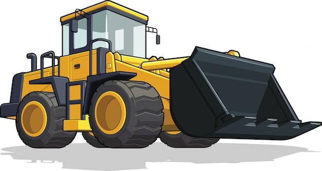 Ilustração de escavadeira